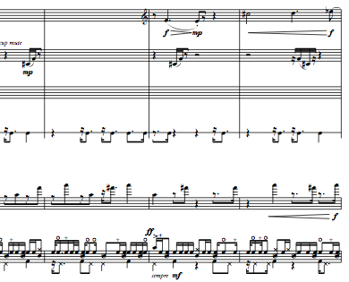snapshot of score of Return of the Son of the Bebop Variations