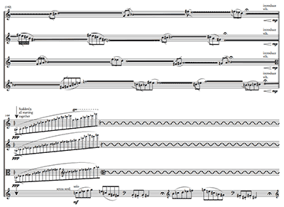 snapshot of score of String Quartet no.1
